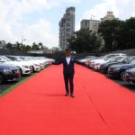 Mr. Paras Somani - Executive Director, Landmark Group with the fleet of 51 Mercedes-Benz cars delivered today
