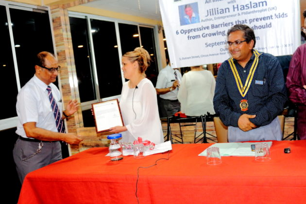 My Journey with Jillian Haslam - The Lecture with the Rotary District 3291 Pic 5
