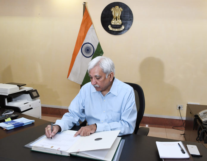 Shri Sunil Arora taking charge as the Election Commissioner of India, in New Delhi on September 01, 2017.