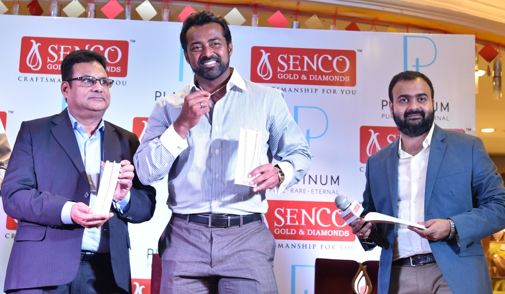photo 1 Leander Paes unveils New collection at Senco Gold & Diamonds
