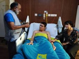 Shri K.J. Apphons Visits Injured Swiss Tourist Couple Quentin Jeremy Clerc and Marie Droz at Apollo Hospital, New Delhi