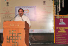 """The Minister of State for Culture (I/C) and Environment, Forest & Climate Change, Dr. Mahesh Sharma addressing at the inauguration of the """"Deep Dharohar"""", Ministry of Culture's function to celebrate Deepawali, in New Delhi on October 13, 2017."""