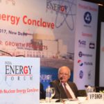 The Minister of State for Development of North Eastern Region (I/C), Prime Minister's Office, Personnel, Public Grievances & Pensions, Atomic Energy and Space, Dr. Jitendra Singh delivering the inaugural address at the 9th Nuclear Energy Conclave, in New Delhi on October 27, 2017.