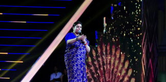 The Union Minister for Textiles and Information & Broadcasting, Smt. Smriti Irani addressing the gathering, at the inaugural ceremony of the 48th International Film Festival of India (IFFI-2017), in Panaji, Goa on November 20, 2017.