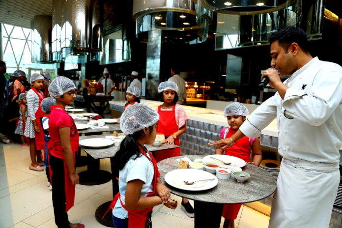 Kids learn how to craft juicy burgers at JW Marriott Kolkata