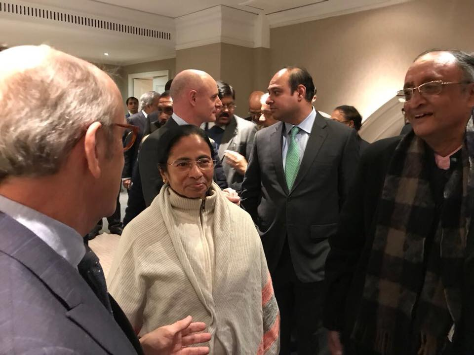 Mamata Banerjee and Amit Mitra with UK Business Team