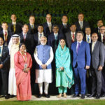 The Prime Minister, Shri Narendra Modi with the Global CEOs of the Food Processing Sector as part of the ongoing World Food India event, in New Delhi on November 03, 2017. The Union Minister for Food Processing Industries, Smt. Harsimrat Kaur Badal and the Minister of State for Food Processing Industries, Sadhvi Niranjan Jyoti are also seen.