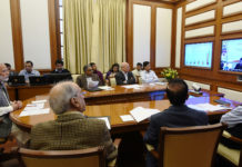 The Prime Minister, Shri Narendra Modi chairing 23rd interaction through PRAGATI - the ICT-based, multi-modal platform for Pro-Active Governance and Timely Implementation, in New Delhi on November 22, 2017.