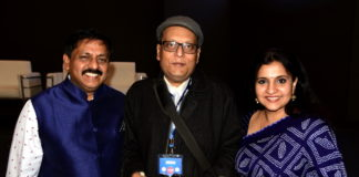 Mr.Sohan Roy Founder Indywoods, Suman Munshi Chief Editor Founder IBG NEWS and Wife of Sohan Roy (L-R)