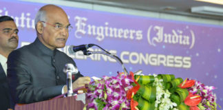 The President, Shri Ram Nath Kovind addressing at the valedictory function of the 32nd Indian Engineering Congress, organised by the Institution of Engineers (India), at Chennai, in Tamil Nadu on December 23, 2017.
