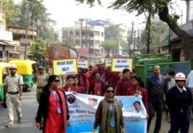 BDMI school has conducted a campaign of Road Safety named as Safe drive, save life.