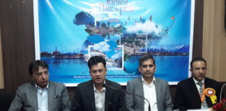 J&K Tourism - Left to Right-Abdul Wahid Malik President, Mahmood A.Shah Director J&K Tourism, Javed Burza, Maqsood Misri.jpg