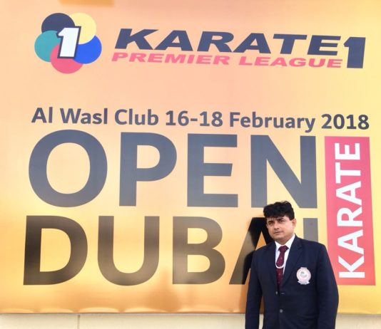 Mr. Premjit Sen at the World Karate Premier League