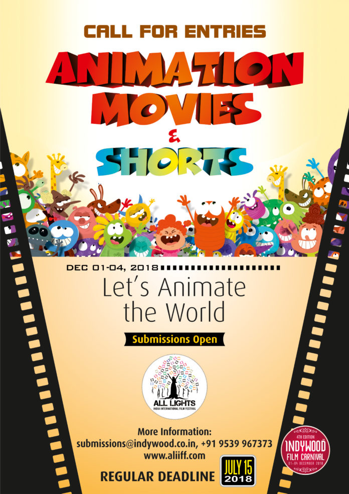 All Lights India International Film Festival (ALIIFF) 2018: Call for animation movies