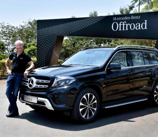 Mr. Roland Folger, MD and CEO, Mercedes-Benz India with GLS Grand Edition