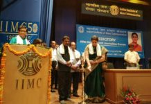 Smt Irani inaugurated National Media Faculty Development Center Indian Journalism