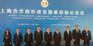 The Minister of State for Tourism (I/C) and Electronics & Information Technology, Shri Alphons Kannanthanam at the SCO Tourism Ministers Meeting, in Wuhan, China on May 09, 2018.