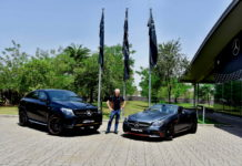 Mr. Roland Folger, MD & CEO, Mercedes-Benz India with the limited edition Mercedes-AMG GLE 43 4MATIC Coupe 'OrangeArt' and SLC 43 'RedArt' Editions