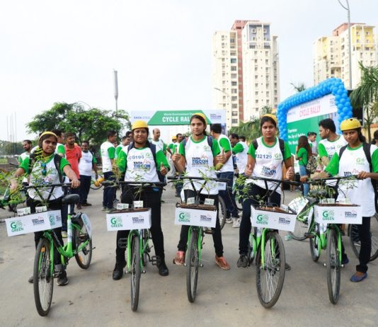 The Cycle Rally organised by TATA Tiscon in association with PEDL - Zoomcar on occasion of World Environment Day held at New Town Business Club, Kolkata_11