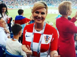 Croatian President not in VIP seat at FIFA World Cup 2018 in Russia