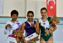 Dipa Karmakar Wins Gold in World Cup