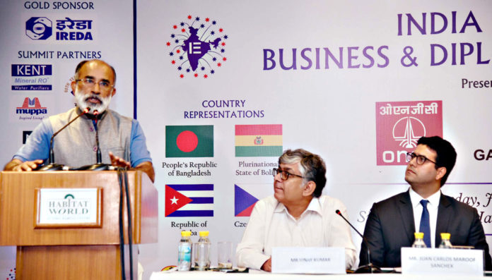 The Minister of State for Tourism (I/C), Shri Alphons Kannanthanam addressing a Session on 'Tourism Infrastructure', in New Delhi on July 17, 2018.