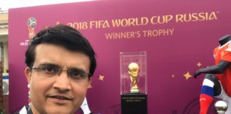 Sourav Ganguly with the World Cup