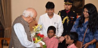 Governor of West Bengal Shri Keshrinath Tripathi meets Children at Rajbhaban