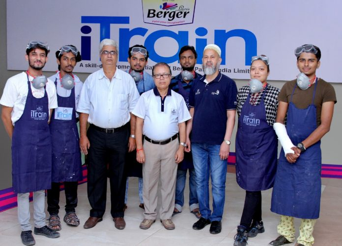 Berger Paints with the regional champions of IndiaSkills 2018