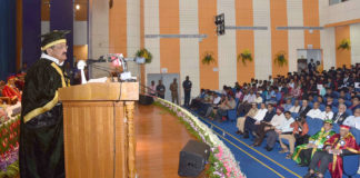The Vice President, Shri M. Venkaiah Naidu addressing the 9th Annual Convocation of Jawaharlal Institute of Postgraduate Medical Education and Research (JIPMER), in Puducherry on October 12, 2018.