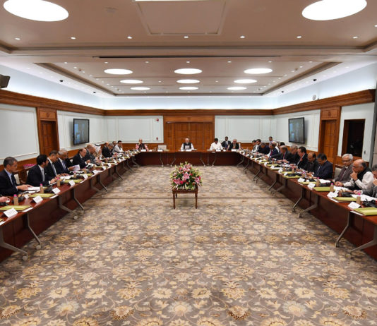 The Prime Minister, Shri Narendra Modi in a meeting with the CEOs and Experts from Oil and Gas sector, from India and abroad, in New Delhi on October 15, 2018.