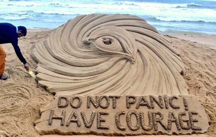 Odisha Cyclone Titli Sand Art