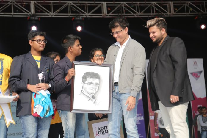 """GenNext unveling the """"ICC Cricket World Cup 2019"""" by Mr. Sourav Ganguly and Mr Avishek D."""