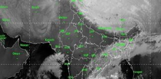 Cyclone Pethai over Bay of Bengal