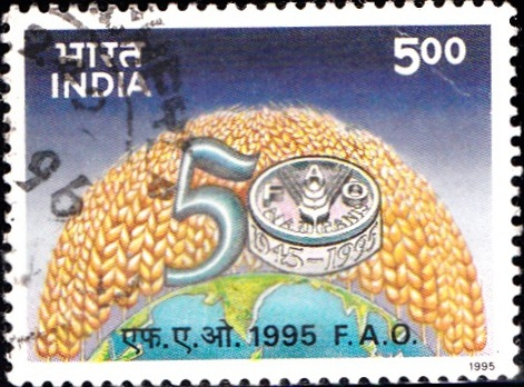 Food Agriculture Organisation- India Postal Stamp 1995