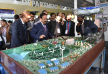 The Union Minister for Science & Technology, Earth Sciences and Environment, Forest & Climate Change, Dr. Harsh Vardhan visiting the CSIR exhibition, at the 106th session of the Indian Science Congress, at Jalandhar, Punjab on January 03, 2019.