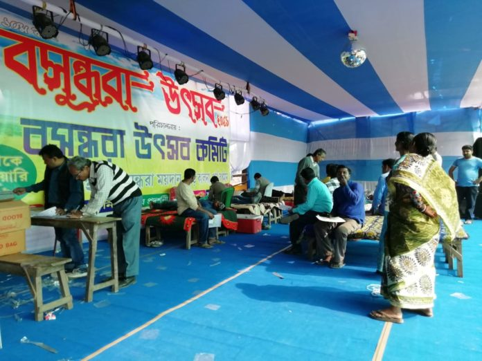Blood Donation Camp by Basundhara