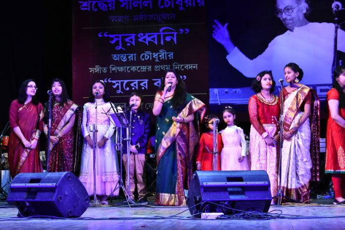 SJ- ANTARA CHOWDHURY WITH SURODHWONI'S STUDENTS