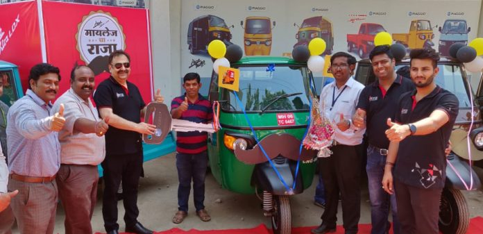 3rd from the Left Mr. Malind Kapur- Senior VP Marketing Piaggio Vehicles inaugurating the Mileage Ka Raja Campaign