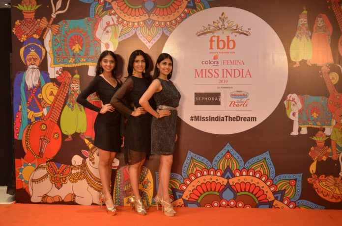 Madhumita Das, Sushmita Roy, Neha Jha - Golden Ticket Winner from West Bengal of fbb Colors FEMINA MISS INDIA 2019.