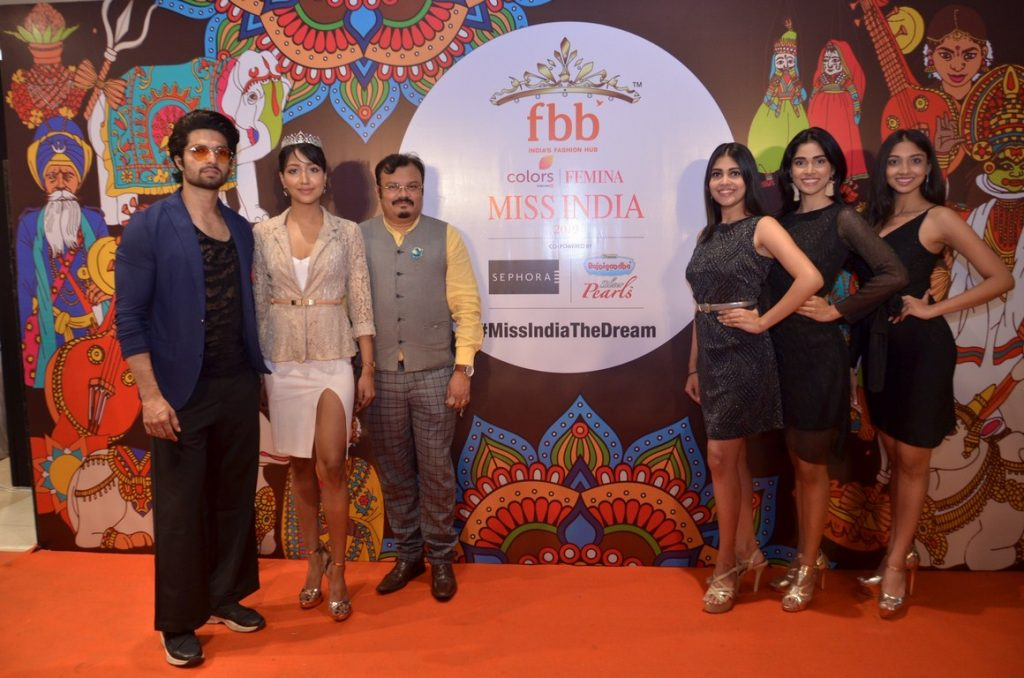 Mohammed Iqbal, Prarthana Sarkar, Snehasish Bhattacharya, Neha Jha, Sushmita Roy, Madhumita Das - Golden Ticket Winner & Judges from West Bengal of fbb Colors FEMINA MISS INDIA 2019.