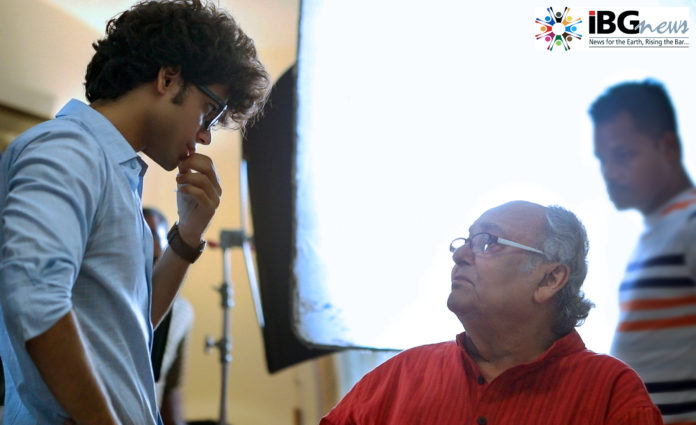 Arnab Chatterjee With Soumitra Chatterjee