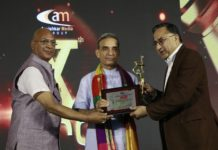 Award felicitation by Shri Satya Pal Singh, Member of Parliament, Govt of India and Mr. Anil Kumar Rastogi, Chairman, Aavishkar Media Pvt. LTD