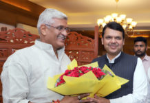 The Chief Minister of Maharashtra, Shri Devendra Fadnavis meeting the Union Minister for Jal Shakti, Shri Gajendra Singh Shekhawat, in New Delhi on June 15, 2019.