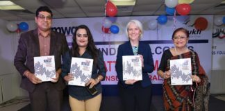 (L-R) Chandra Chakraborty, VP - East, Amway India with H.E. Ms. Patti Hoffman, US Consul General at the launch of Women Compendium, in Kolkata