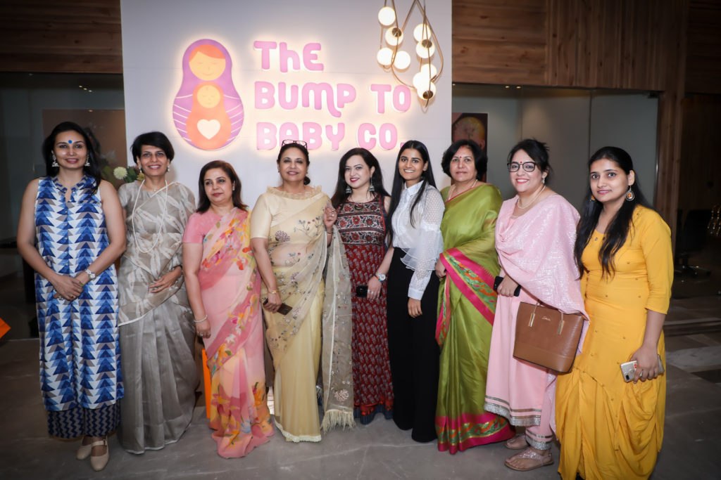 The Founders along with their supporters atThe Bump to Baby Co launch event on June 5