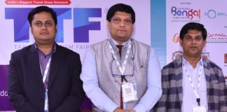 (L-R)- Mr Syed Shafat Uddin Ahmed, Managing Director of Market N-Trance Ltd, Md Mohiuddin Helal, CEO, River and Green Tours & Mr Taufiq Rahman, Chief Executive of Journey Plus at the TTF Forum, A Session on How Bangladeshi Tourists Outnumbered European Travellers to India