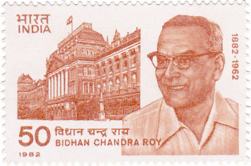 Bidhan Chandra Roy(1982-1962) - Postal stamp of India
