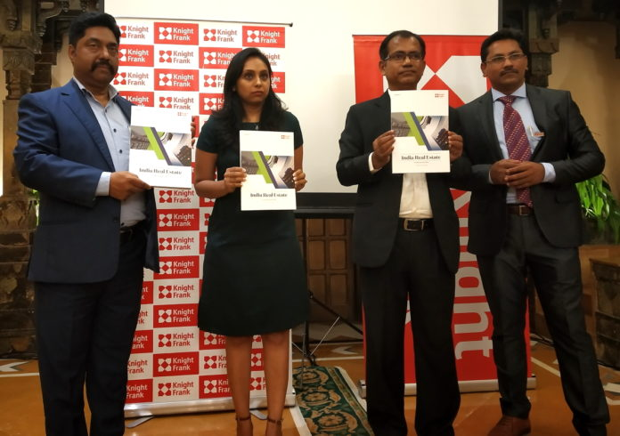 (from left) Mr. Swapan Dutta, Branch Director Kolkata, Mr. Sougata Roy, Senior Director & Mr. Manavendra Bhowmick, AVP, Operations & Facilities Management of Knight Frank India were at the H1 Report launch of Knight Frank India.