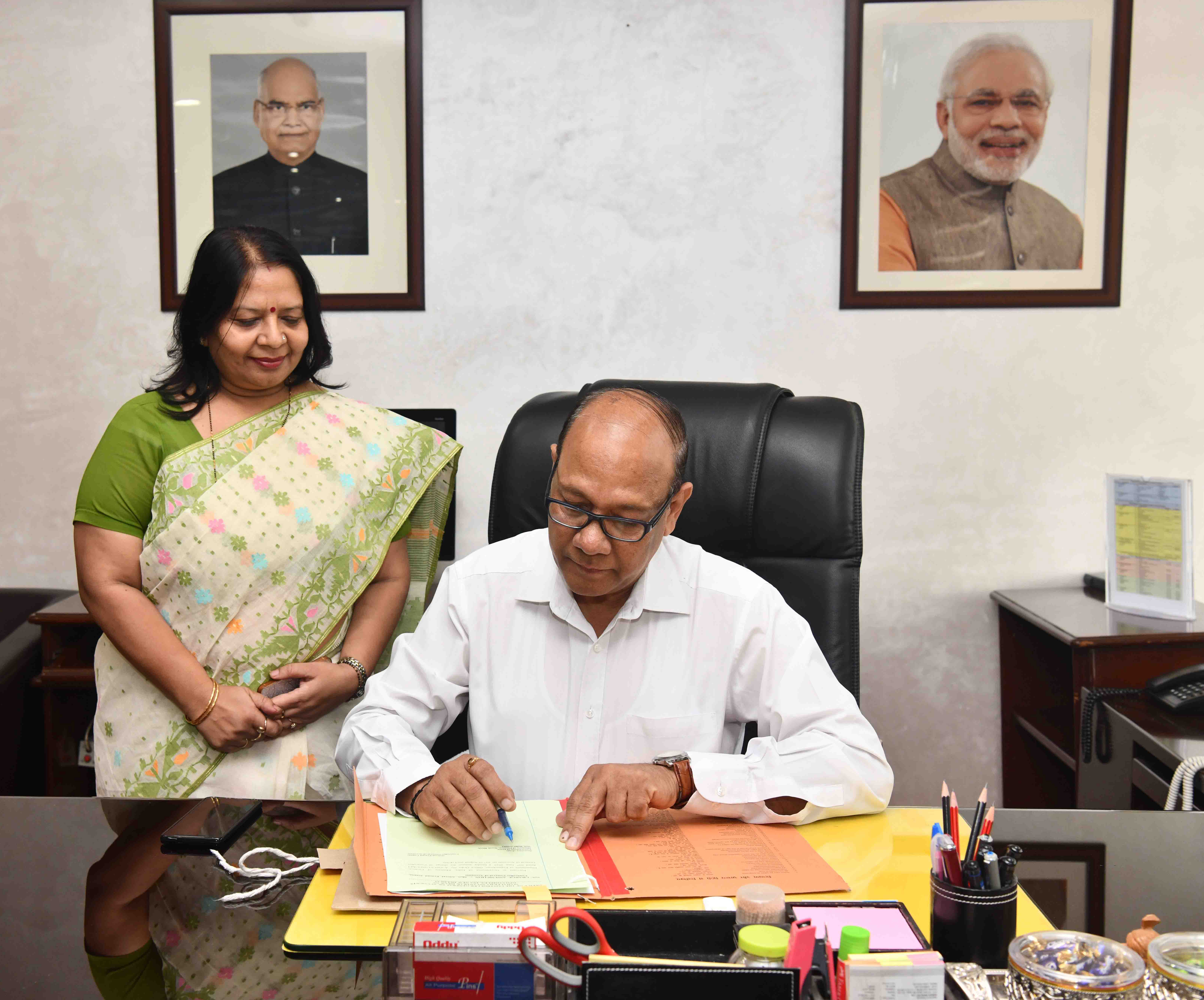 Shri Girraj Prasad Gupta takes over as the New Controller General of Accounts (CGA), Department of Expenditure, Ministry of Finance, in New Delhi on August 01, 2019.